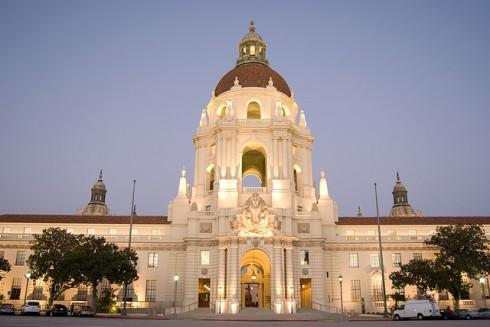 City Hall, Pasadena, CA, site of City Council meetings.