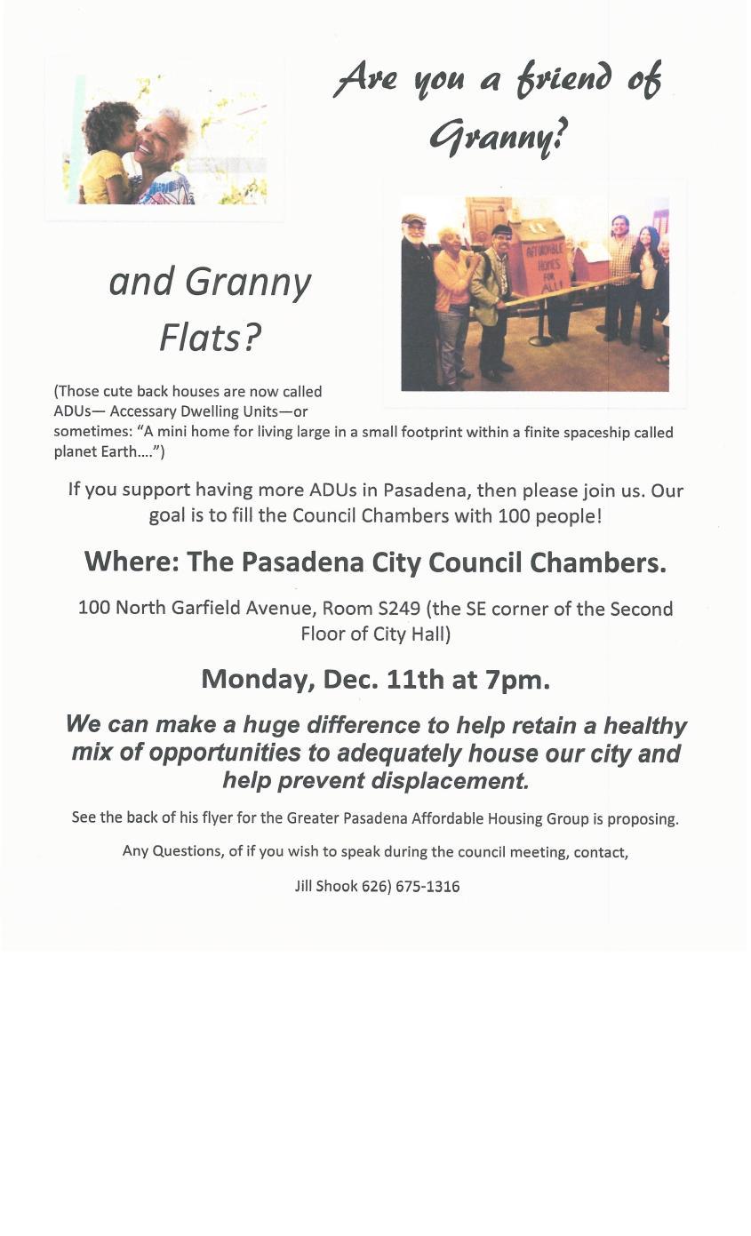 Are you a friend of Granny--Flats, come Dec. 11-2017 7pm0001